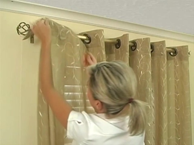 How to Install Window Drapes Video - Grommet Drapery Panels - image 10 from the video