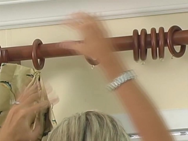 How to Install Window Drapes Video - Inverted Pleat Curtains - image 9 from the video
