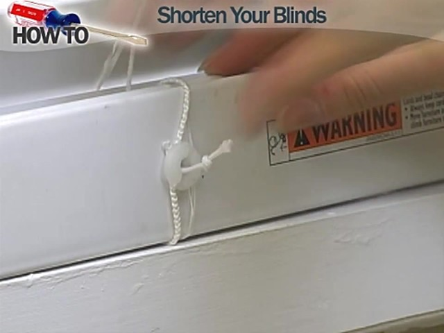 How to Shorten Blinds - Wood and Fauxwood - image 10 from the video