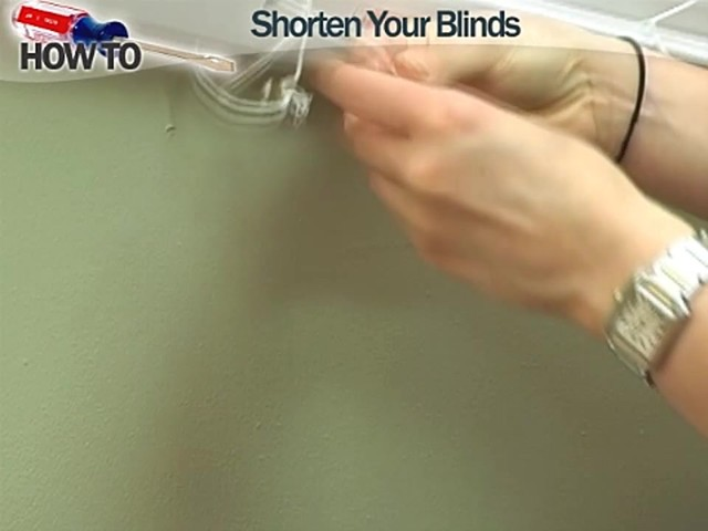 How to Shorten Blinds - Wood and Fauxwood - image 2 from the video