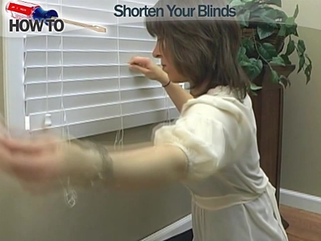 How to Shorten Blinds - Wood and Fauxwood - image 4 from the video