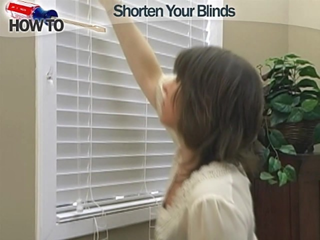 How To Shorten Window Blinds Wood And Faux Wood Video