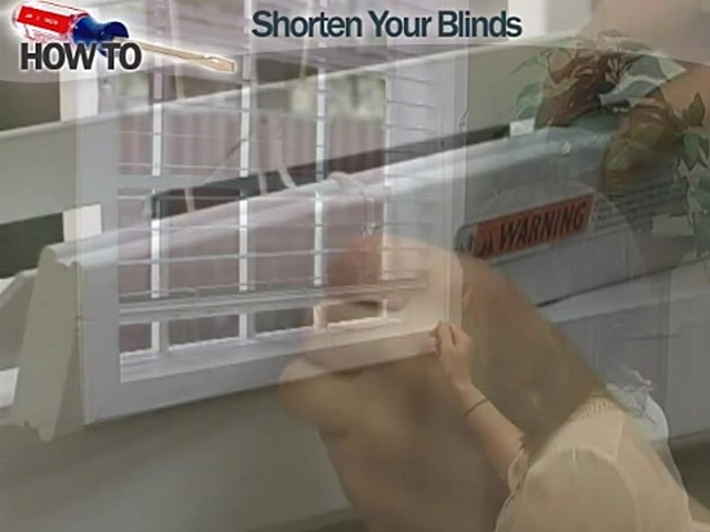 How to Shorten Blinds - Wood and Fauxwood - image 9 from the video