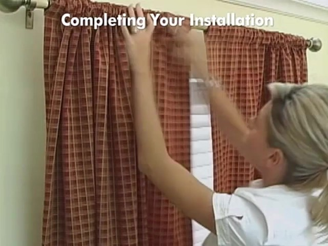 How to Install Drapery Panels Video - Rod Pocket Window Curtains - image 10 from the video