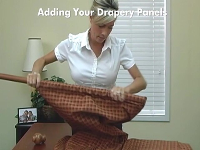How to Install Drapery Panels Video - Rod Pocket Window Curtains - image 7 from the video