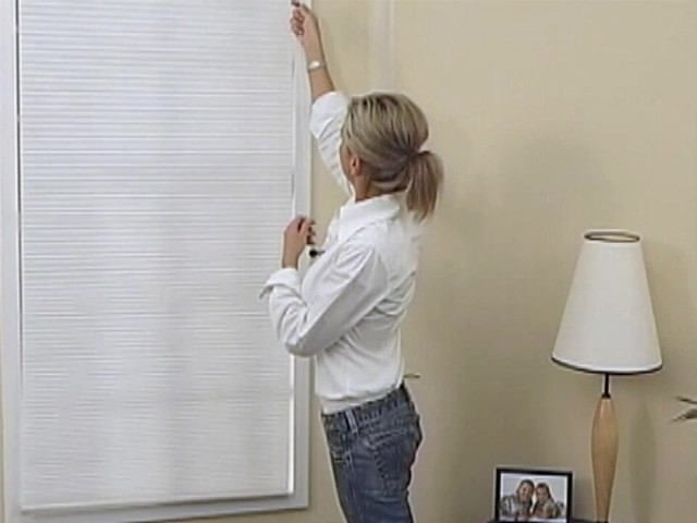 How to Install Inside Mount Cellular Shades - image 9 from the video