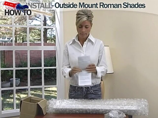 How To Install Roman Shades Video Outside Mount