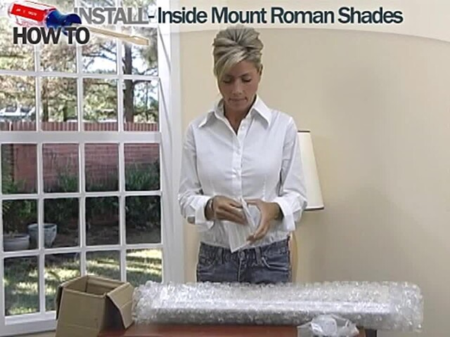 How to Install Roman Shades - Inside Mount - image 3 from the video