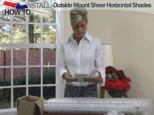 How to Install Sheer Horizontal Shades - Outside Mount - image 3 from the video