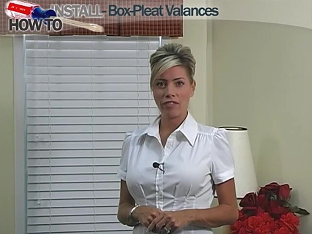 How to Install a Box Pleat Fabric Valance Video - Blinds.com DIY - image 1 from the video