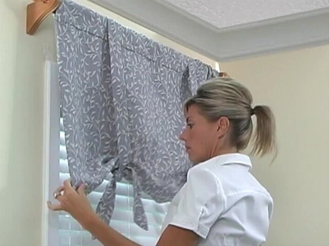 How to Install a Window Valance Video - Laura Ashley Roll Up Valance - Blinds.com DIY  - image 10 from the video