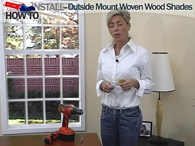 How to Install Outside Mount Woven Wood Shades - image 1 from the video
