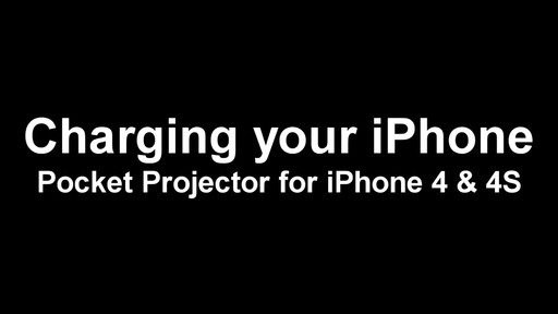 Backup Battery: Pocket Projector iPhone 4 - image 1 from the video