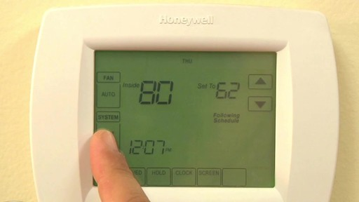 Honeywell VisionPro 8000 Series Thermostats - image 5 from the video