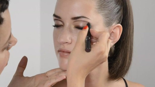 Trendy Graphic Lined Wide Eyed Look - image 7 from the video