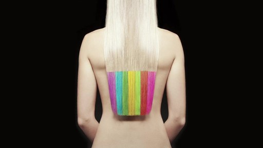Hair Color Chalk Tutorial - image 10 from the video