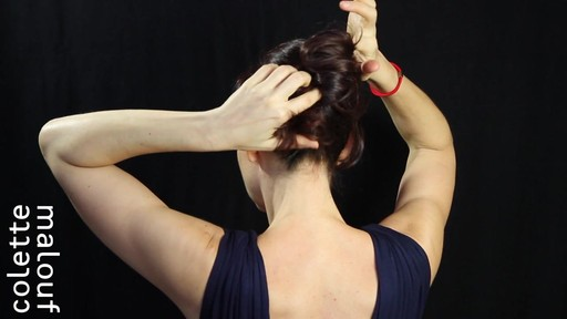 Colette Malouf M Pin How-To: Long Hair French Twist - image 2 from the video
