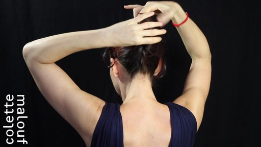 Colette Malouf M Pin How-To: Long Hair French Twist - image 3 from the video