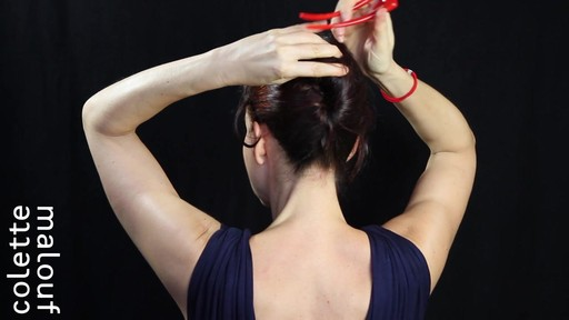 Colette Malouf M Pin How-To: Long Hair French Twist - image 5 from the video