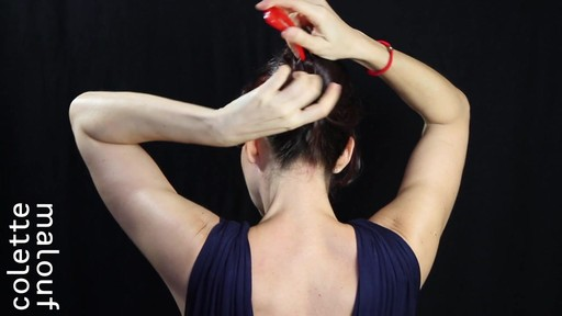 Colette Malouf M Pin How-To: Long Hair French Twist - image 7 from the video