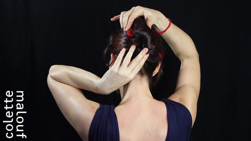 Colette Malouf M Pin How-To: Long Hair French Twist - image 8 from the video