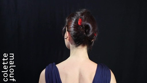 Colette Malouf M Pin How-To: Long Hair French Twist - image 9 from the video