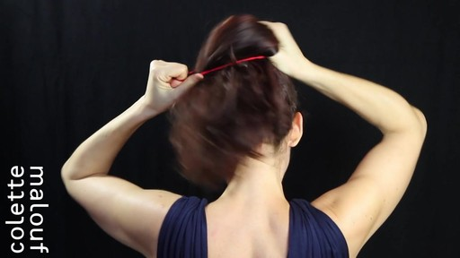 Colette Malouf M Pin How-To: Top Knot - image 2 from the video
