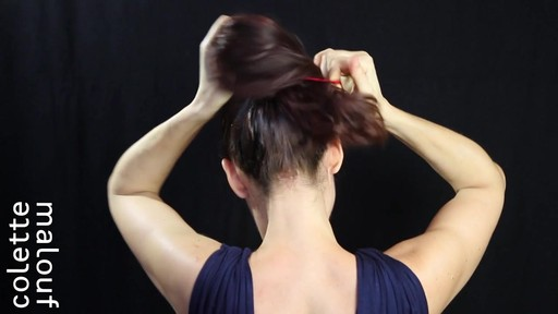 Colette Malouf M Pin How-To: Top Knot - image 3 from the video