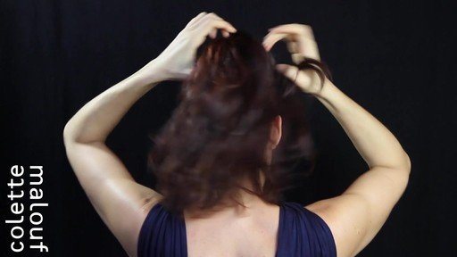 Colette Malouf M Pin How-To: Top Knot - image 4 from the video