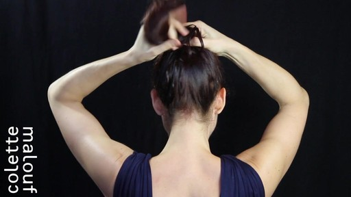 Colette Malouf M Pin How-To: Top Knot - image 5 from the video