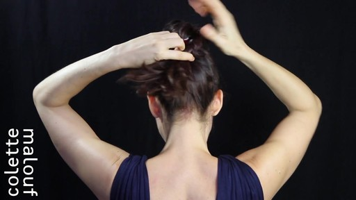 Colette Malouf M Pin How-To: Top Knot - image 6 from the video