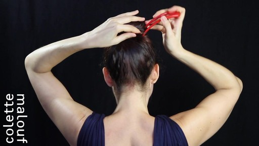 Colette Malouf M Pin How-To: Top Knot - image 8 from the video