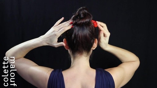 Colette Malouf M Pin How-To: Top Knot - image 9 from the video