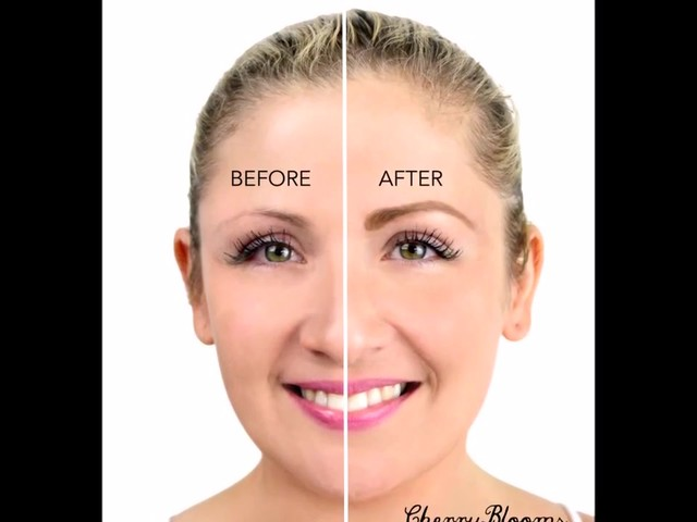 Cherry Blooms Instant Fiber Brows Application for Blonde Hair - image 10 from the video