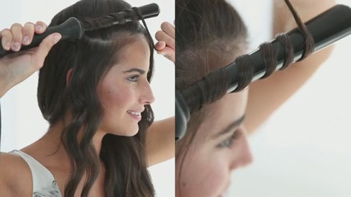 amika: small to big curls with 13-25mm tourmaline curler - image 7 from the video