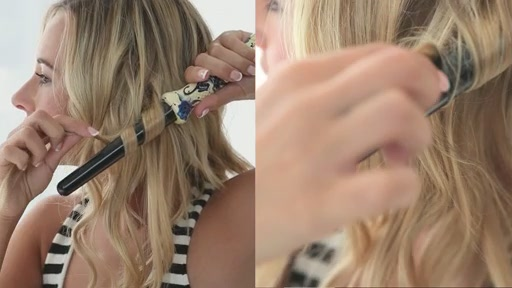 amika: big to small curls with 25-18mm tourmaline curler - image 5 from the video
