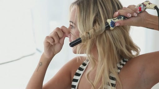 amika: big to small curls with 25-18mm tourmaline curler - image 9 from the video