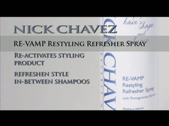 Nick Chavez Beverly Hills Revamp Restyling Refresher Spray - image 10 from the video