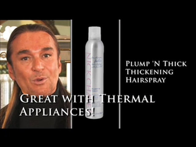 Nick Chavez Beverly Hills Plump N Thick Thickening Hairspray - image 2 from the video