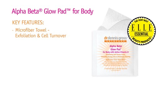 Dr. Dennis Gross Alpha Beta Glow Pad for Body with Active Vitamin D - image 2 from the video