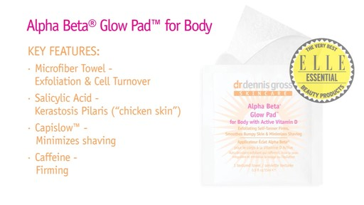 Dr. Dennis Gross Alpha Beta Glow Pad for Body with Active Vitamin D - image 3 from the video