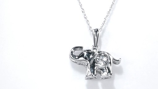 Zales Unstoppable Love Diamond Accent Elephant Pendant in Sterling Silver he20S