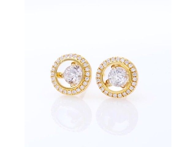 Magnificence™ 1/3 CT. T.w. Diamond Frame Stud Earrings in 10K Gold - image 10 from the video