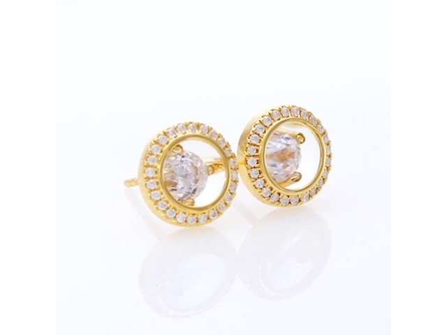 Magnificence™ 1/3 CT. T.w. Diamond Frame Stud Earrings in 10K Gold - image 4 from the video