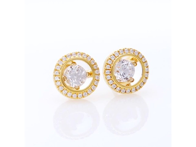 Magnificence™ 1/3 CT. T.w. Diamond Frame Stud Earrings in 10K Gold - image 5 from the video