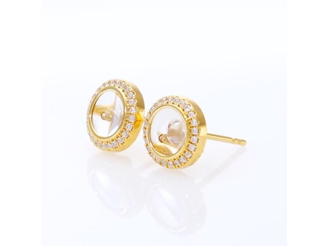 Magnificence™ 1/3 CT. T.w. Diamond Frame Stud Earrings in 10K Gold - image 8 from the video