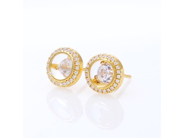 Magnificence™ 1/3 CT. T.w. Diamond Frame Stud Earrings in 10K Gold - image 9 from the video