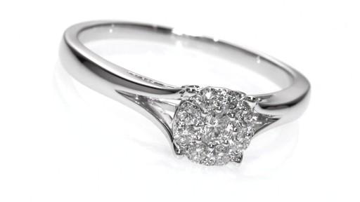 posite Diamond Engagement Ring in 10K White Gold Women s Size regul