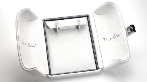 Two Stone Diamond Swirl Hoop Earrings In 14k White Gold Zales Ever