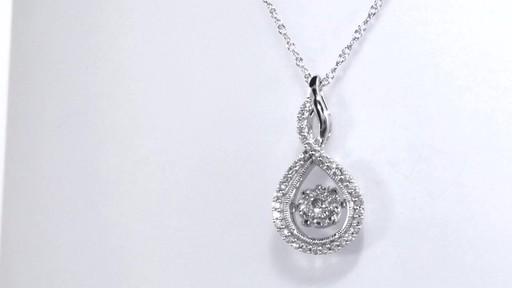 Diamond Twist Teardrop Pendant In 10k White Gold
